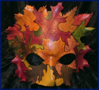 Autumn Dryad Leather Mask
