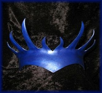 Blue Spire Leather Crown