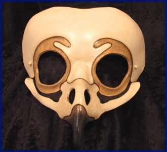 Owl Skull Leather Mask