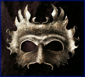Silver Herne Leather Mask